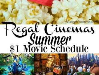 Regal Cinemas Summer Movie Schedule! Only $1 Per Person!