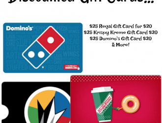 Discounted Gift Cards! Dominos, Krispy Kreme, Regal & More!!!