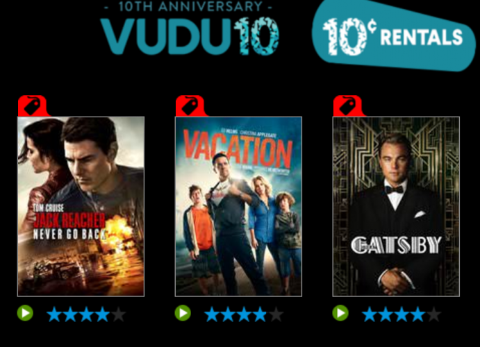 VUDU Movie Rentals ONLY 10¢! • MidgetMomma