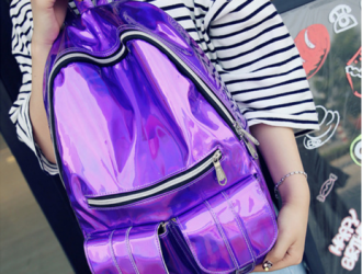 Back to School Alert!  Retro Holographic Metallic Color Backpack $16 Shipped!  (diff colors)