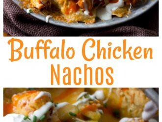 Cheesy Buffalo Chicken Nachos