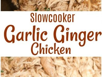 Slowcooker Garlic Ginger Chicken
