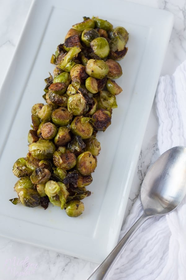 Apple Cider Roast Brussel Sprouts