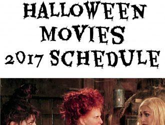 FreeForm Halloween Movies 2017 Schedule