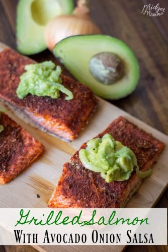 Grilled Salmon with Avocado