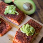 Easy grilled salmon on a cutting board