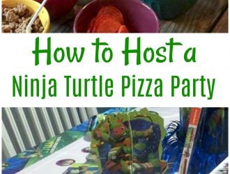 How to Host a Ninja Turtle Make Your Own Pizza Party