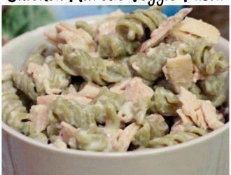 Super Quick Chicken Alfredo Veggie Pasta
