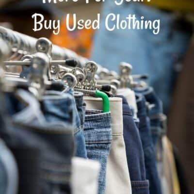 save money buying used clothing