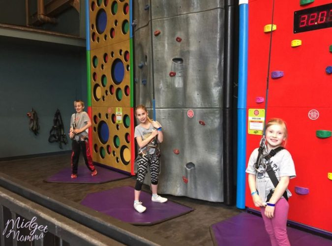 climbing wall at aquatopia