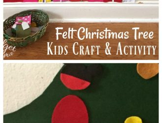 DIY Christmas Tree Playset made with Felt