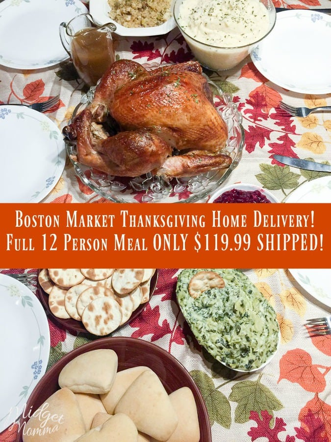 Boston Market Thanksgiving Home Delivery Service