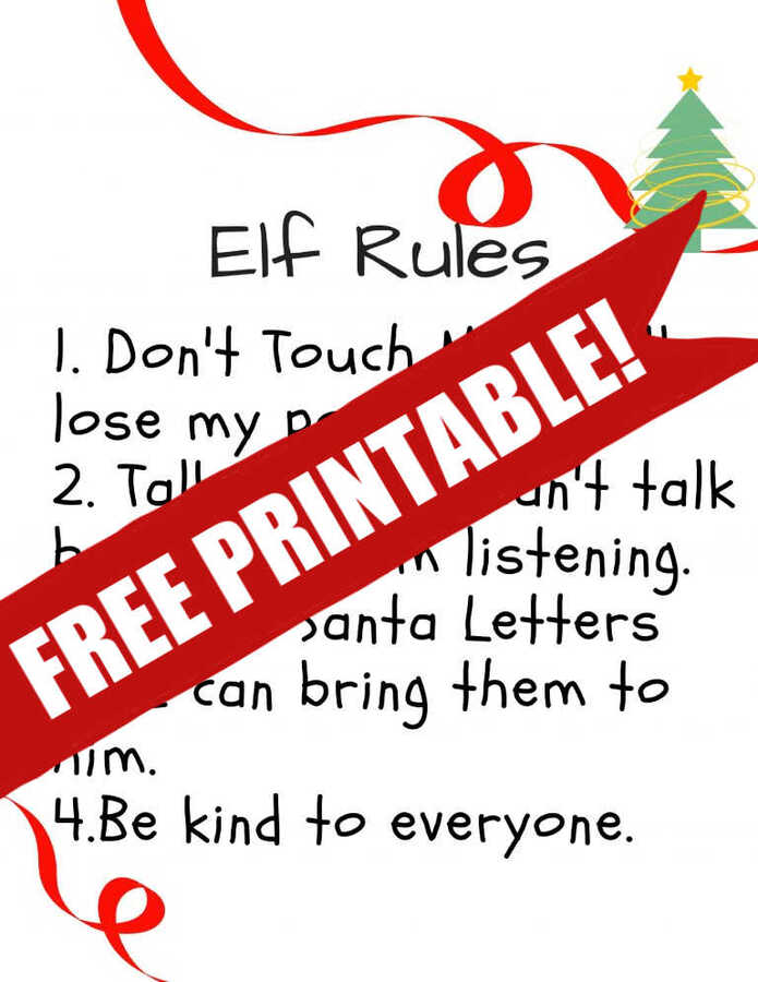 picture about Elf on the Shelf Printable called Elf upon the Shelf Guidelines Printable toward Guidance Small children Bear in mind the Pointers