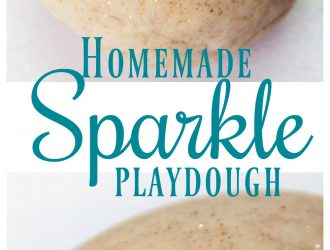 Homemade Sparkle Playdough