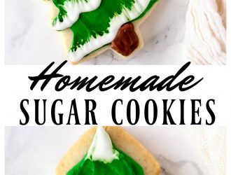 Homemade Sugar Cookie Christmas Tree cookies