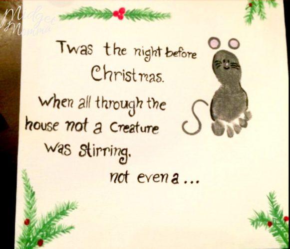 Christmas Mouse Footprint Craft