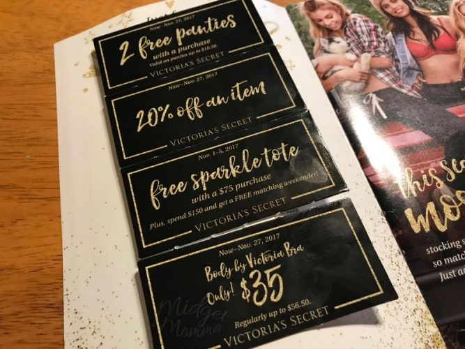 502be7a50cbc Plus if you have the mailer from last week that has Victoria's Secret  coupons in it you can combine the sale and codes for even more savings!!