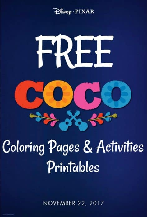 Coco Movie Printable Coloring Pages
