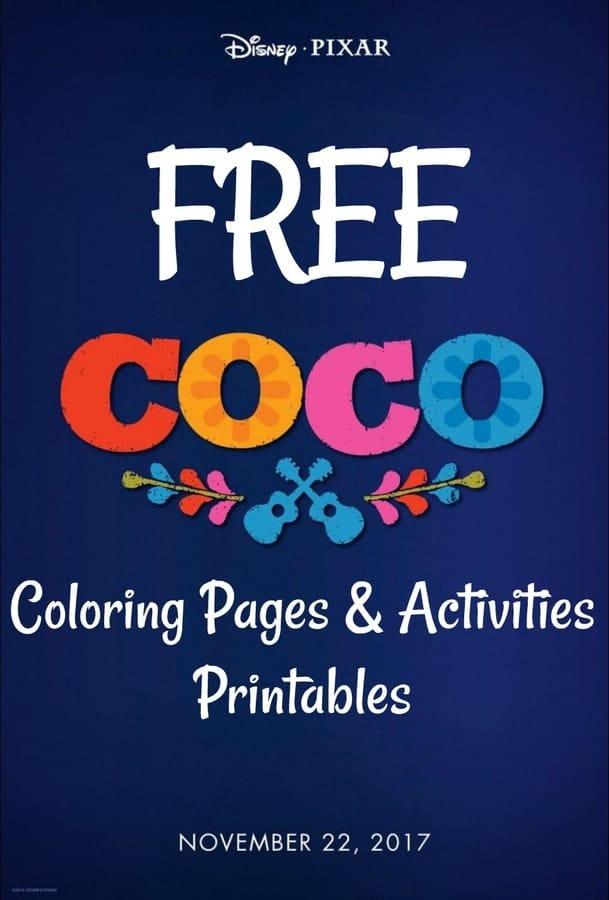 Free Disneys Coco Movie Printable Coloring Pages O MidgetMomma