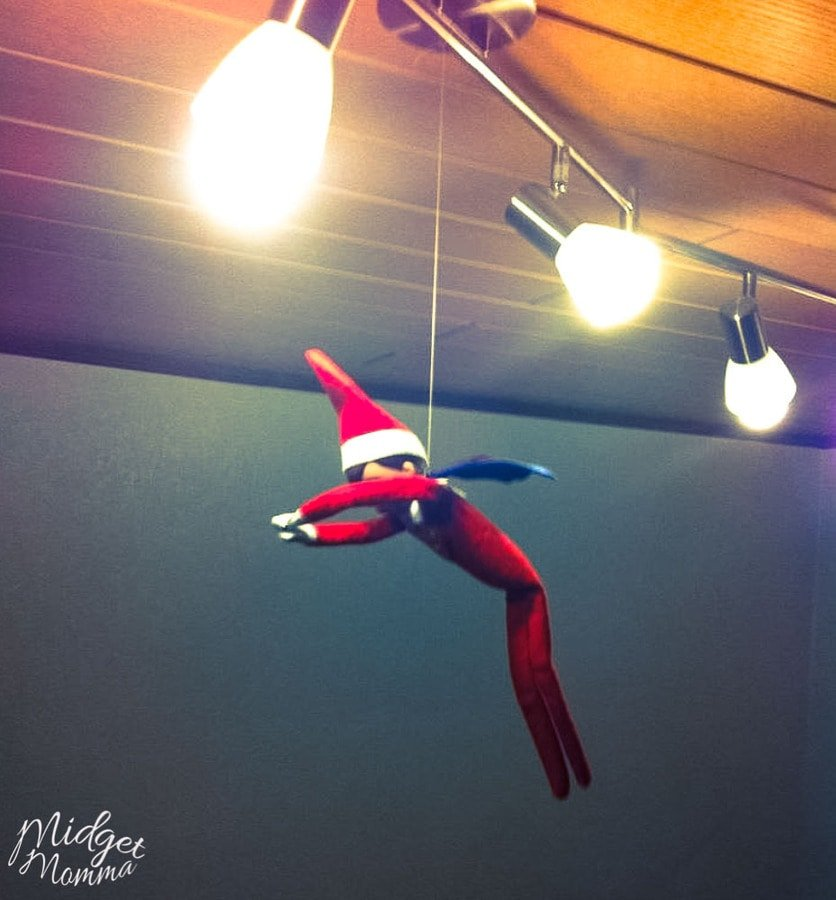 flying elf on the shelf - Easy Elf on the Shelf Ideas
