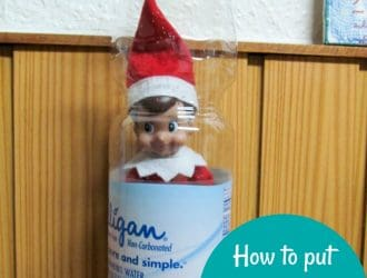 How to put Elf on the Shelf in water bottle