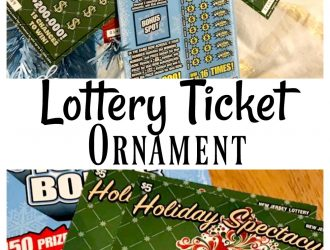 DIY Lottery Ticket Ornament Made with NJ Lottery for Holidays