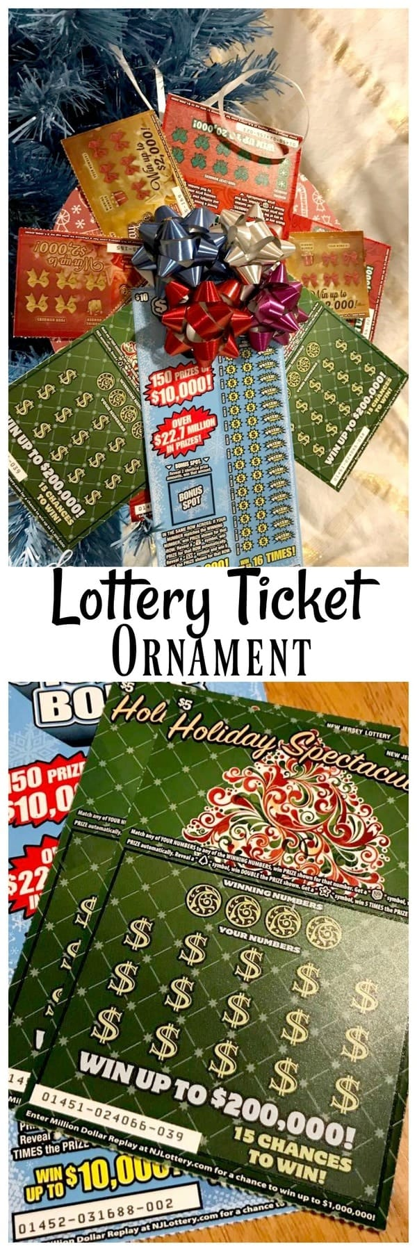Easy To Make Diy Lottery Ticket Ornament Gift Idea