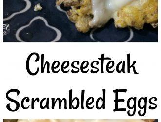 Cheesesteak Scrambled Eggs