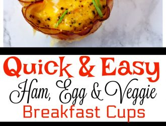 Keto Friendly Ham and Egg Cups Breakfast Recipe