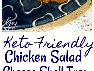 Keto Friendly Chicken Salad Cheese Shell Tacos