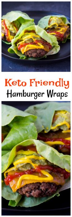 Keto Friendly Hamburger Wraps