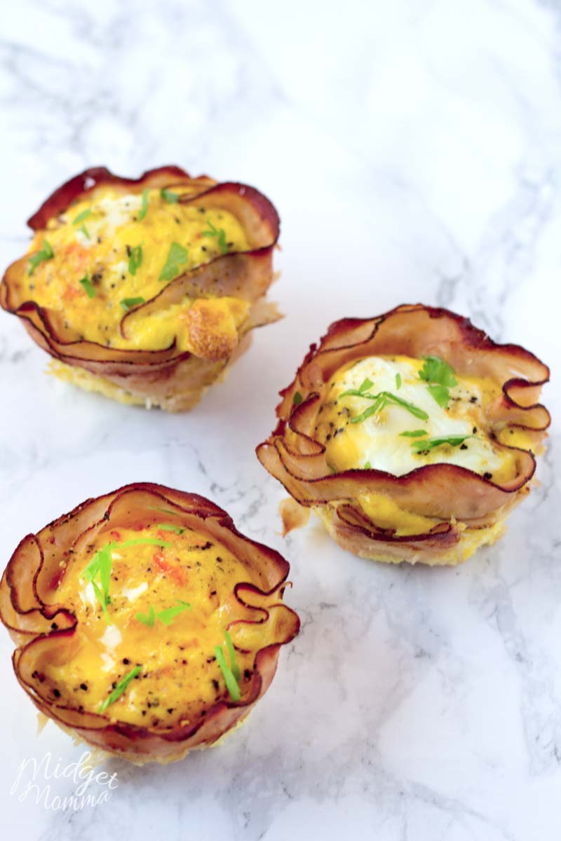 Ham and Egg cups recipe made for breakfast