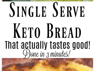 Easy Single Serving Keto Bread (Done in less then 3 minutes!)