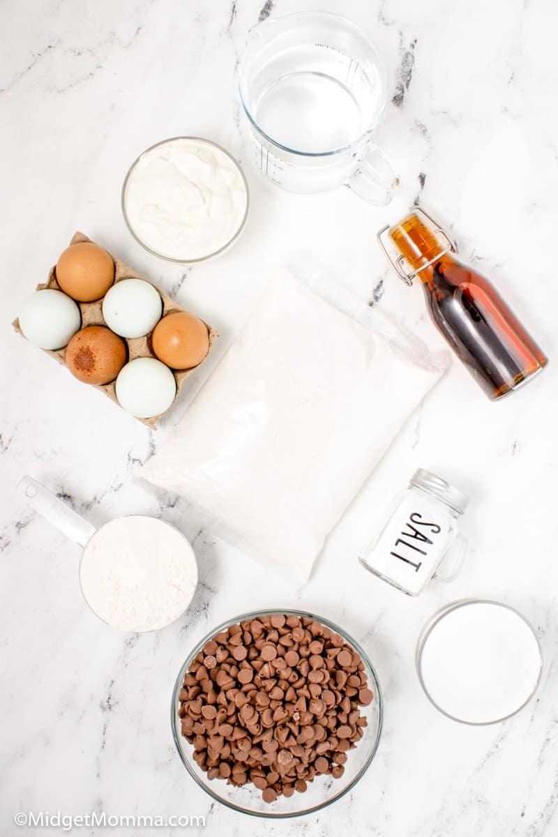 Chocolate Chip Cupcakes ingredients