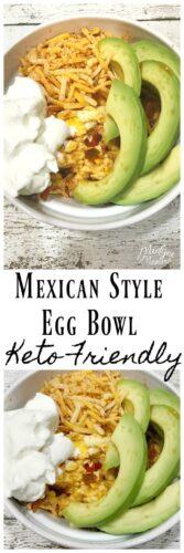 Mexican Style Keto Egg Bowl