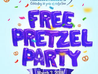 FREE Auntie Anne's Original or Cinnamon Pretzel on March 3rd