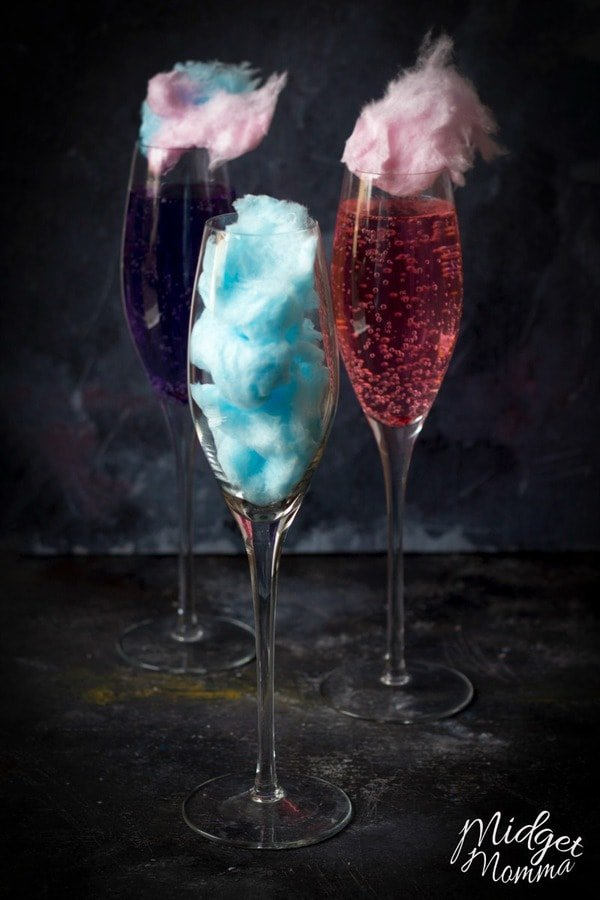 Unicorn Cotton Candy Mocktail