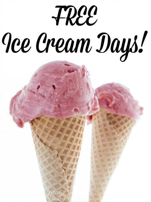 2018 FREE Ice Cream Days