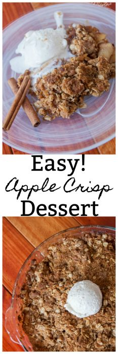 If you are looking for an easy apple dessert recipe then this Apple Crisp dessert recipe is the perfect one to try. Fresh apples with an amazing oatmeal topping.