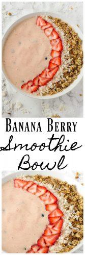 Banana Berry Smoothie Bowl Recipe