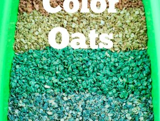 How To Make Colored Oats for Preschool Sensory bins