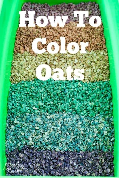 how to dye oats colors