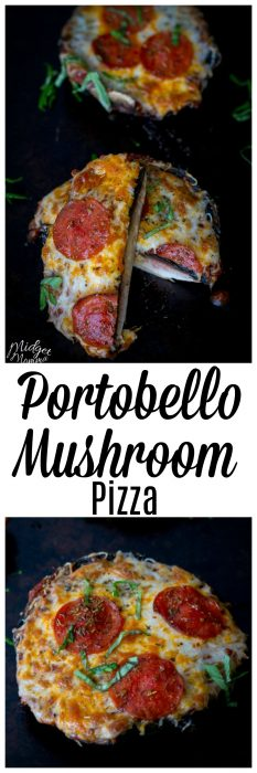 If you are wanting a tasty healthy pizza, you are going to love this Portobello Mushroom Pizza. This Portobello pizza was loved by everyone in my house, even the kids when I made it.
