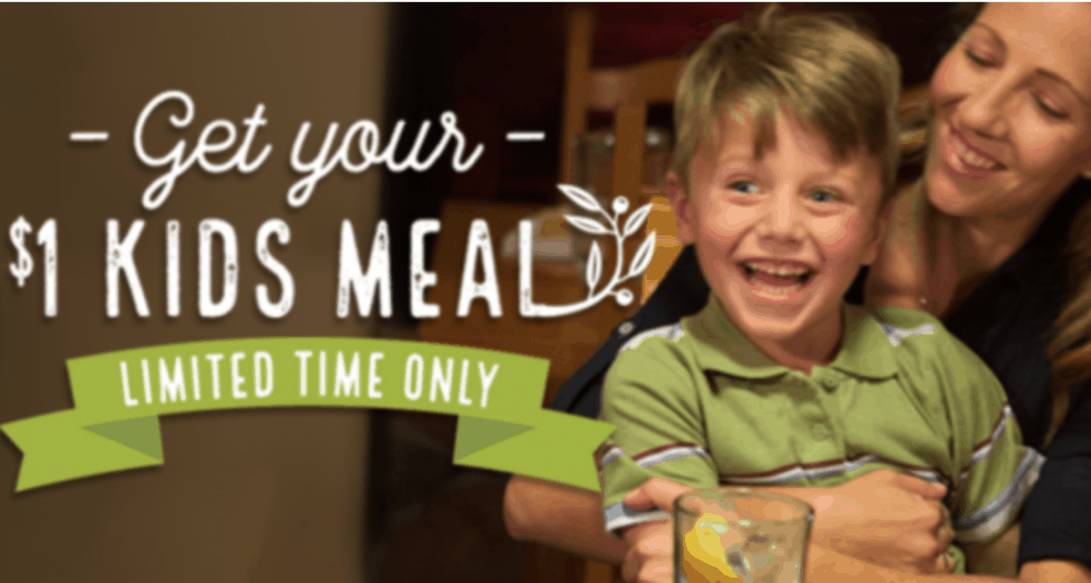 Olive Garden Kids Meal Coupon