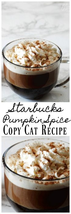 Starbucks Pumpkin Spice Copy Cat Recipe - MidgetMomma. Easy to make Starbucks Pumpkin Spice Copy Cat Recipe that tastes just as good if not better then the real thing! #Starbucks #copycat #Coffee #recipe #pumpkin #pumpkinspice