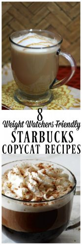 Weight Watchers Friendly Copy Cat Recipes - MidgetMomma. Check out these Weight Watchers Starbucks Recipes that you can make at home! Low points for those who love taking a trip to Starbucks but don't want the high amount of points that come with going to Starbucks. These easy to make Weight Watchers Starbucks Recipes taste just like the real thing!