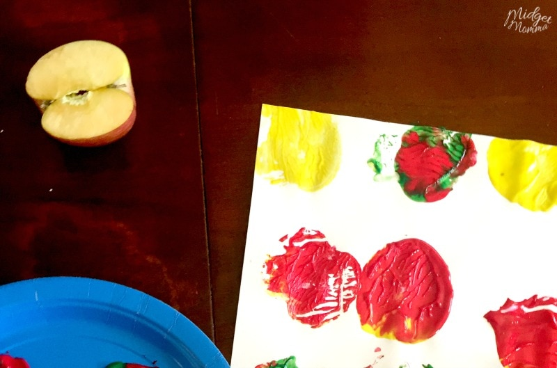 easy painting with apples