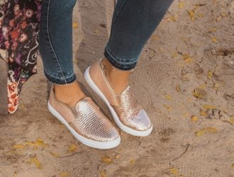 Pefect for Spring!  Muk Luk Sequin Gianna Sneakers (two color options)