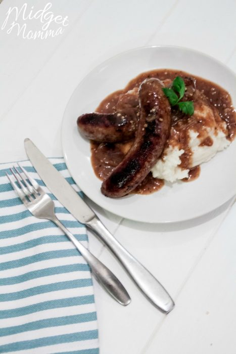 Bangers And Mash With Stout Gravy