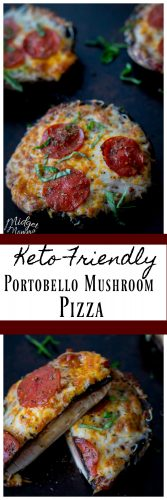 Low Carb Portobello Pizza - MidgetMomma - Keto Friendly Pizza made with Portobello Mushrooms. If you are wanting a tasty healthy pizza, you are going to love this Portobello Mushroom Pizza. This Portobello pizza was loved by everyone in my house, even the kids when I made it. #keto #pizza #ketofriendly #lowcarb #lowcarbRecipe